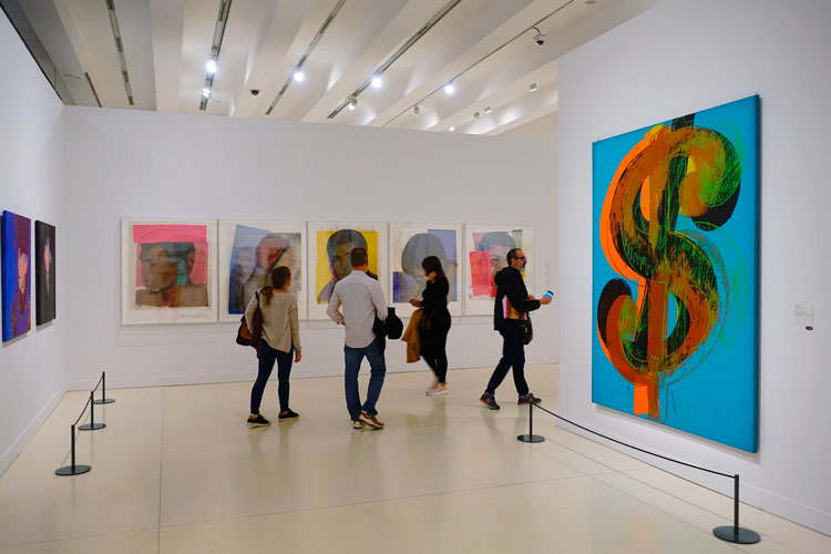 Andy Warhol Dollar Sign |  Exhibition by Andy Warhol in Madrid