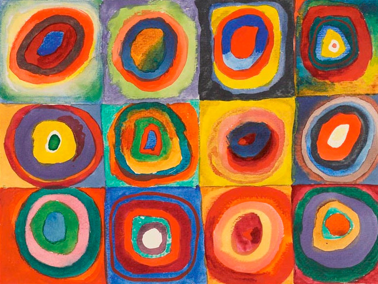 Squares with Concentric Circles (1913). Wassily Kandinsky | Introduction for Art Investors
