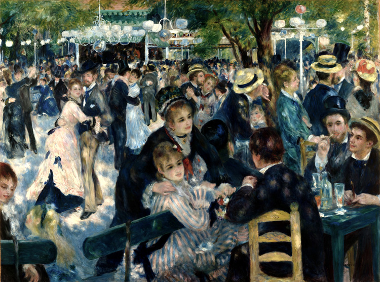 Dance at Le moulin de la Galette (1876), Pierre-Auguste Renoir