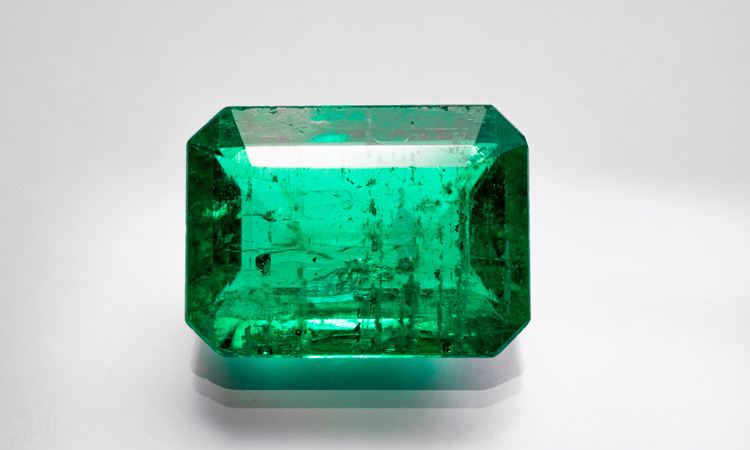Inclusions in an emerald