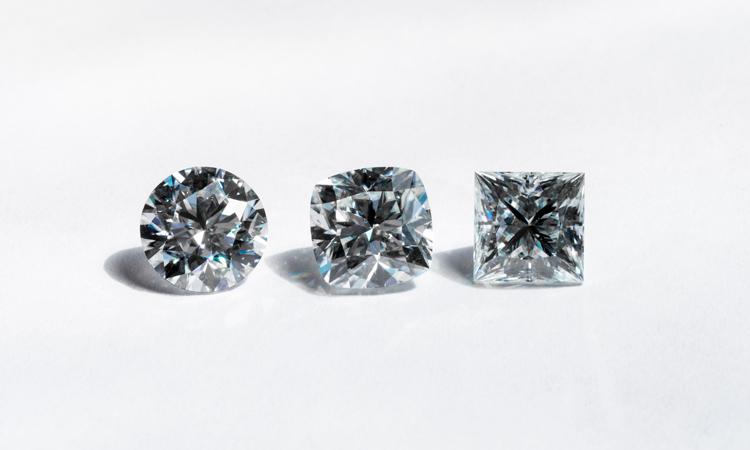 Various cut diamonds