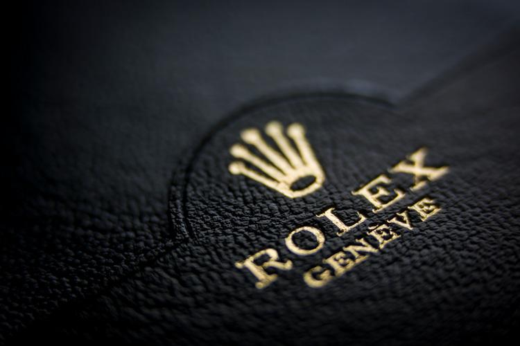 embossed Rolex logo