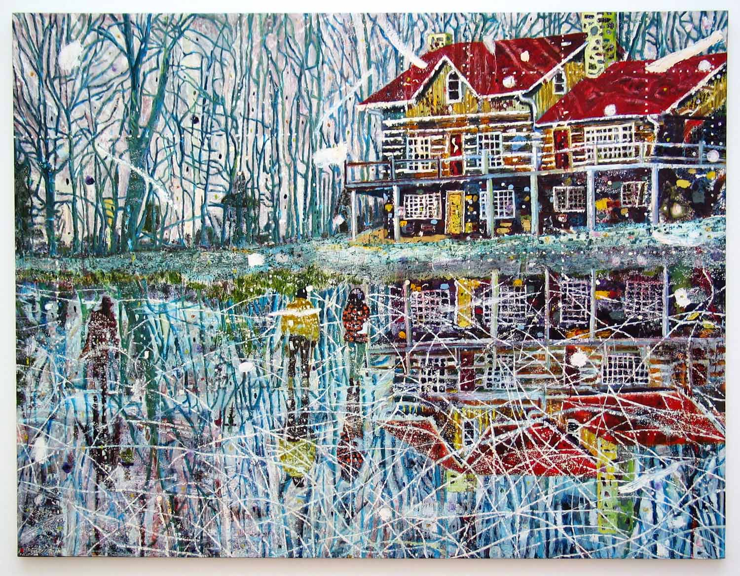 Pond Life, 1993, by Peter Doig