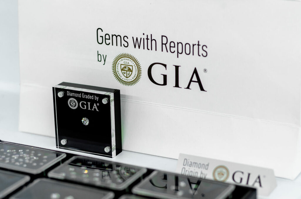 GIA Diamond on sale in the jewelry store