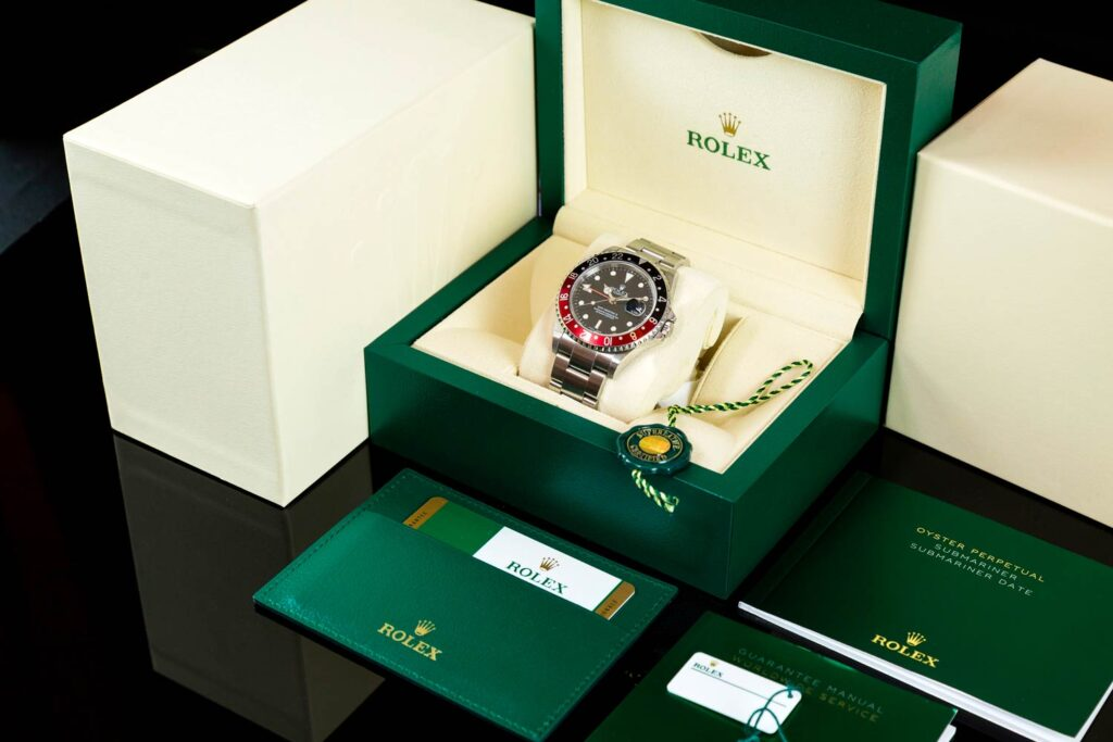 Rolex luxury watch with box and papers